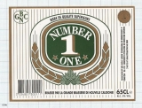 NEW CALEDONIA - GBNC Noumea - NUMBER ONE - beer label