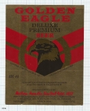 INDIA - Mohan Meakin Brew Ghaziabad - GOLDEN EAGLE De Luxe - beer label