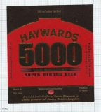 INDIA - Khoday Brew Bangalore - HAYWARDS 5000 - beer label