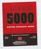 INDIA - Winsome Brew Sarehkhurd - HAYWARDS 5000 - beer label