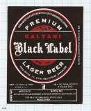 INDIA - United Brew Punjab Brew Ludhiama - BLACK LABEL - beer label