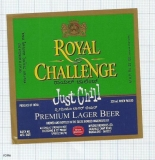 INDIA - Mysore Brews SABMiller Bangalore - ROYAL CHALLENGE - beer label