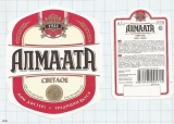 KAZAKHSTAN - Almaty Алма-Ата - Светлое - Beer label