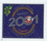 ARMENIA -Kotayk Brew Abovyan - HAPPY NEW MILLENIUM 2001 christmas - Beer label