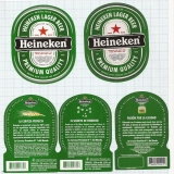 COSTA RICA - La Florida, S.A. Heredia - HEINEKEN - beer labels