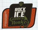 COSTA RICA - La Florida, S.A. Heredia - ROCK ICE Golden Monkey- beer label