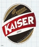 COSTA RICA - La Florida, S.A. Heredia - KAISER - beer label