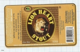 JAMAICA - Big City Brew Co Kingston - LION HEART STOUT - beer label