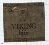 ICELAND - Viking Ölgerd Akureyri - VIKING BJOR - beer label