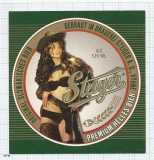 SLOVAKIA - Steiger Vyhne - sexy nude woman - beer label