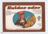 ESTONIA - Saku Őlletehas Saku - KULDNE ODER woman - beer label