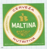 COLOMBIA - Bavaria - Cerveza Nutritiva MALTINA - beer label
