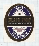 INDIA - SOM Distilleries & Brew Rojrachak - BLACK FORT - beer label