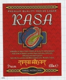INDIA - SOM Distilleries & Brew Rojrachak - RASA - beer label