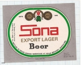 INDIA - Venus Brew Bangalore - SONA export lager - beer label