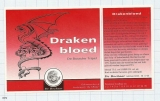 HOLLAND - Micro, De 3 Horne Kaatsheuvel - DRAKEN BLOED - beer label