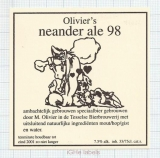 HOLLAND - Micro, Texelse Bierbrouwerij Oudeschild - NEANDER ALE 98 - beer label