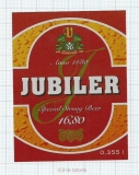 CZECH REPUBLIC - Vyškov - JUBILER - beer label