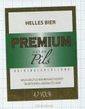 CZECH REPUBLIC - Vyškov - HELLES PREMIUM - beer label