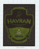 CZECH REPUBLIC - Vyškov - HAVRAN - beer label