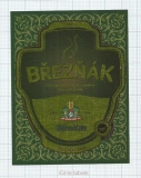 CZECH REPUBLIC - Vyškov - BREZNAK - beer label