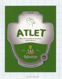 CZECH REPUBLIC - Vyškov - ATLET sport - beer label