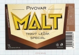 CZECH REPUBLIC - Micro, Pivovar Malt Ceske Budejovice - Tmavy - Beer label