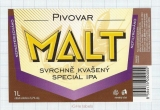 CZECH REPUBLIC - Micro, Pivovar Malt Ceske Budejovice - Special IPA - Beer label