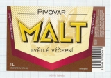 CZECH REPUBLIC - Micro, Pivovar Malt Ceske Budejovice - Svetle - Beer label