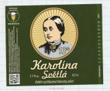 CZECH REPUBLIC - Micro, U Bizona Čižice Štěnovice - KAROLINA woman - Beer label