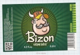 CZECH REPUBLIC - Micro, U Bizona Čižice Štěnovice - BIZON - Beer label
