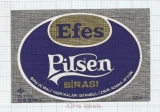TURKEY - Efes Brewery - EFES PILSNE BIRASI - beer label