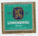 TURKEY - Türk Tuborg Izmir - LOWENBRAU - beer label