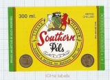 TURKEY - Efes for South Breweries - SOUTHERN PILS - beer label