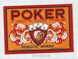 COLOMBIA - Bavaria - POKER - beer label