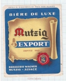 FRANCE - Brasserie Mutzig Alsace - EXPORT - beer label