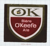 CANADA - Brew O'Keefe Montreal - OK BEER - beer label