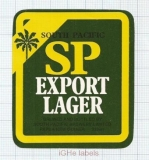 PAPUANEW GUINEA - South Pacific Brew Lae - SP EXPORT LAGER - beer label