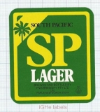 PAPUANEW GUINEA - South Pacific PNG Brew Lae - SP EXPORT LAGER - beer label