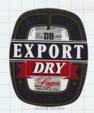 NEW ZEALAND - DB Breweries Auckland - EXPORT DRY - beer label