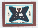 UGANDA - Nile Breweries LTD - CLUB PILSNER - beer label