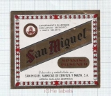 SPAIN - San Miguel Malga - SPANISH PILSNER - beer label