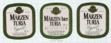 SPAIN - El Turia Valencia - MARZEN TURIA - 3 beer labels