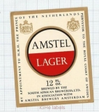 HOLLAND - Amstel, Amsterdam - AMSTEL LAGER - beer label