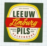 HOLLAND - De Leeuw Valkenburg - PILS - beer label