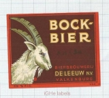 HOLLAND - De Leeuw Valkenburg - BOCK-BIER - beer label