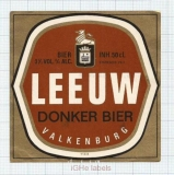 HOLLAND - De Leeuw Valkenburg - DONKER BIER - beer label