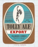 ENGLAND (UK) - Tollymache & Cobbold Ipswich - EXPORT ALE woman - beer label