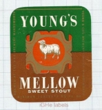 ENGLAND (UK) - Young & Co Brew Wandsworth - MELLOW Sweet Stout - beer label