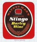 ENGLAND (UK) - Watney Mann Ltd London - STINGO Barley Wine - beer label